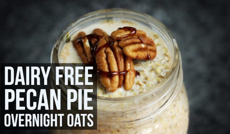 Dairy Free Pecan Pie Overnight Oats | On-the-Go Vegan