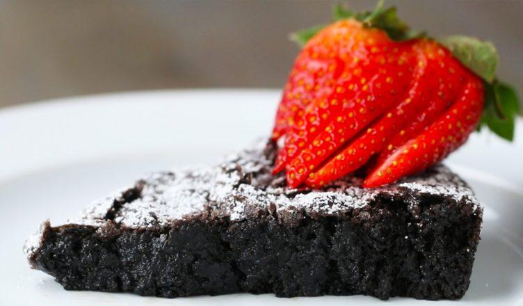 Swedish Sticky Chocolate Cake (Kladdkaka) | Amazing Vegan