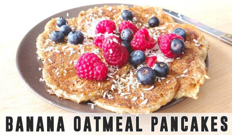 Vegan Banana Oatmeal Pancakes Kasumikriss Amazing Vegan